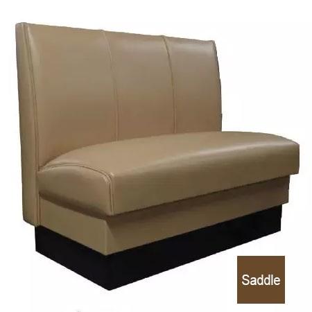 "Vitro MD-3000-DBL SAD Double Restaurant Booth - (3) Panels, Fully Upholstered, 36"" x 44"", Saddle"