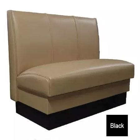 """Vitro MD-3000-SGL BLK Single Restaurant Booth - (3) Panels, Fully Upholstered, 36"""" x 44"""", Black"""