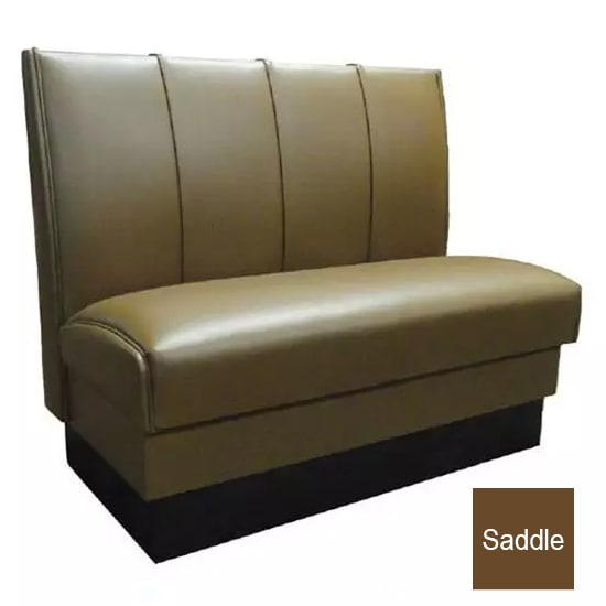 "Vitro MD-4000-DBL SAD Double Restaurant Booth - (4) Panels, Fully Upholstered, 36"" x 44"", Saddle"