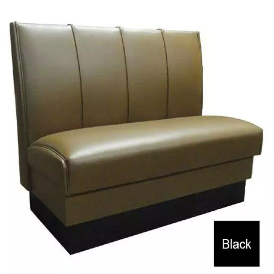 """Vitro MD-4000-SGL BLK Single Restaurant Booth - (4) Panels, Fully Upholstered, 36"""" x 44"""", Black"""