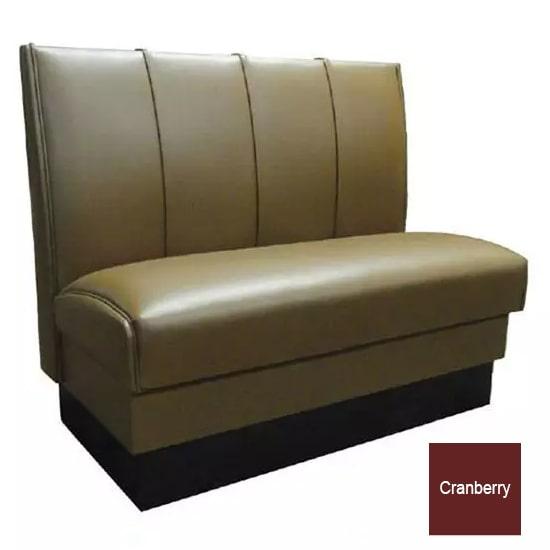 "Vitro MD-4000-SGL CBRY Single Restaurant Booth - (4) Panels, Fully Upholstered, 36"" x 44"", Cranberry"