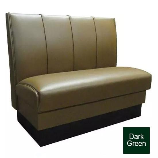 """Vitro MD-4000-SGL DKGR Single Restaurant Booth - (4) Panels, Fully Upholstered, 36"""" x 44"""", Dark Green"""