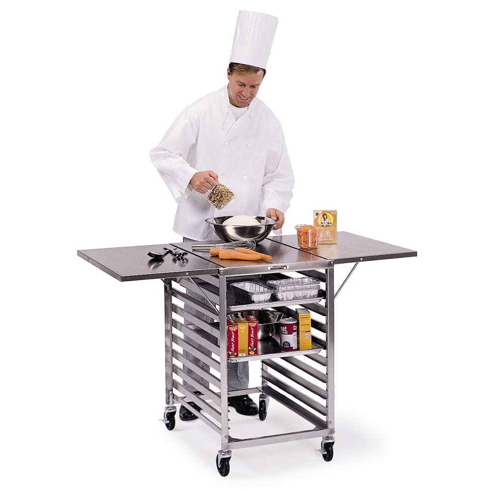 """Lakeside 110 Portable Table Wing w/ Channel Ledge for (19) 18 x 26"""" Sheet Pans"""