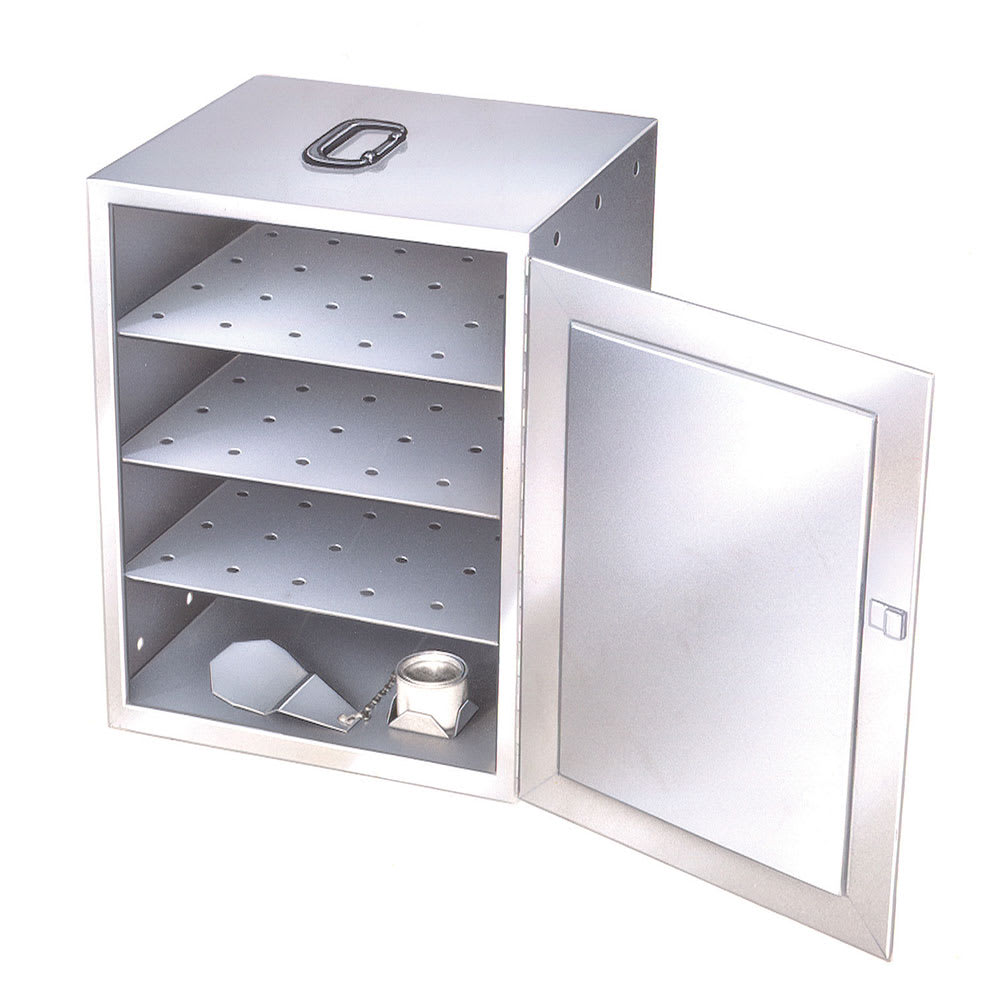 Lakeside 112 Food Carrier Box w/ 3 Removable Perforated Shelves & Solid Fuel Canister