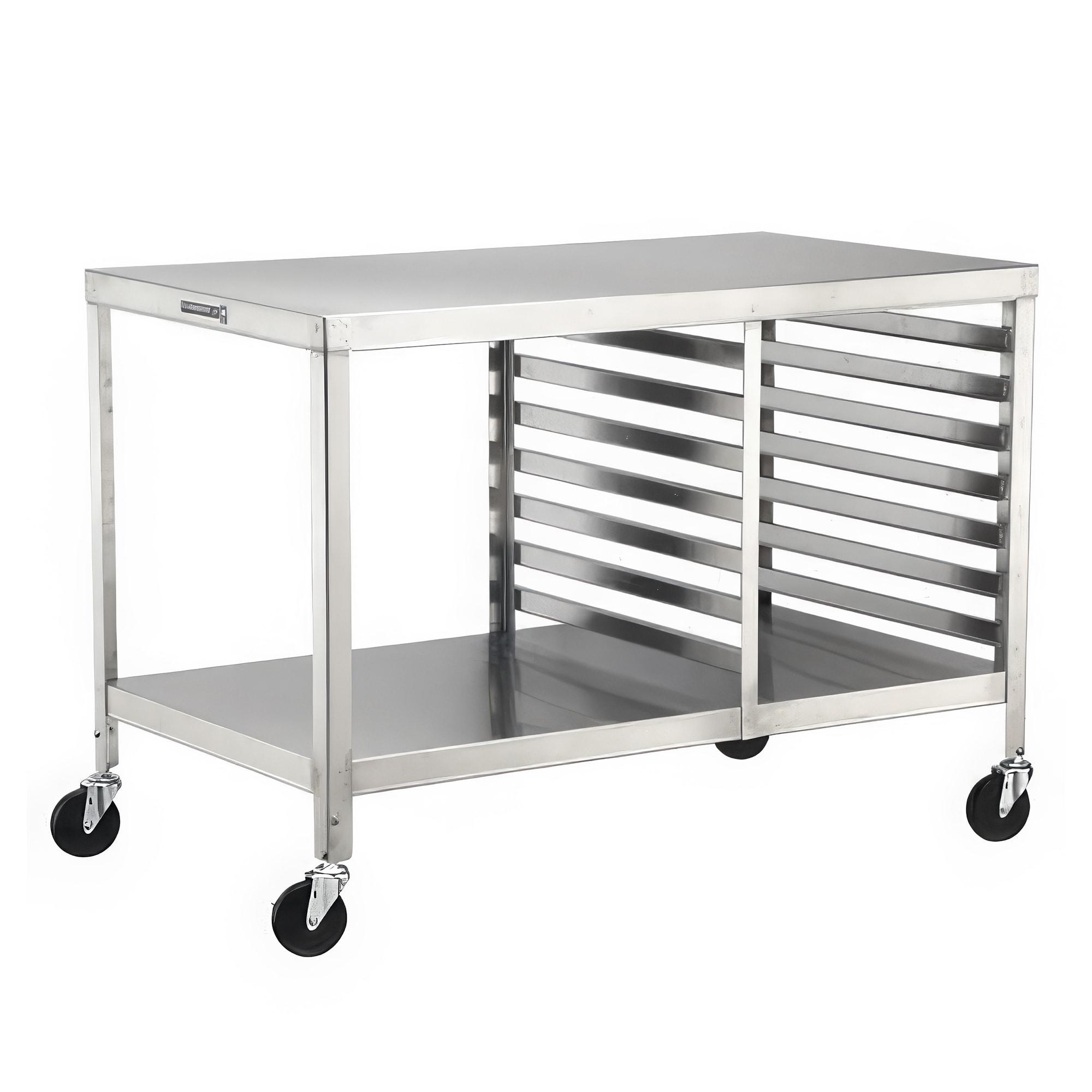"Lakeside 130 Portable Work Table w/ Bottom Shelf, (15) 18 x 26"" Pan Capacity"
