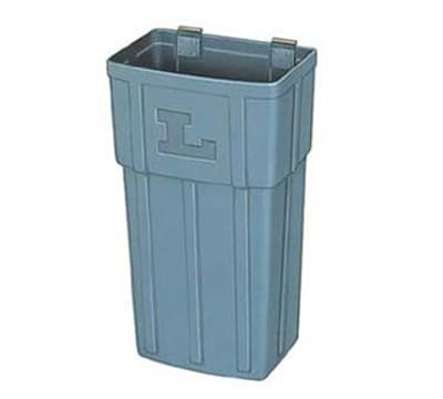 Lakeside 206-4 Jumbo Waste Basket w/ Hanger Strap, Polyethylene, Gray