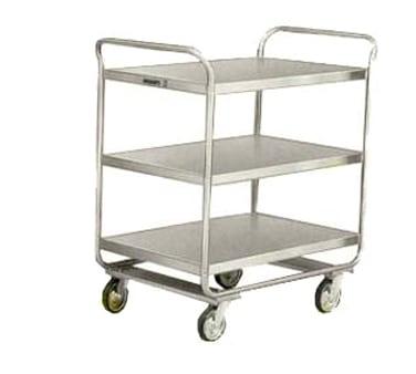 Lakeside 211 3 Level Stainless Utility Cart w/ 500 lb Capacity, Flat Ledges