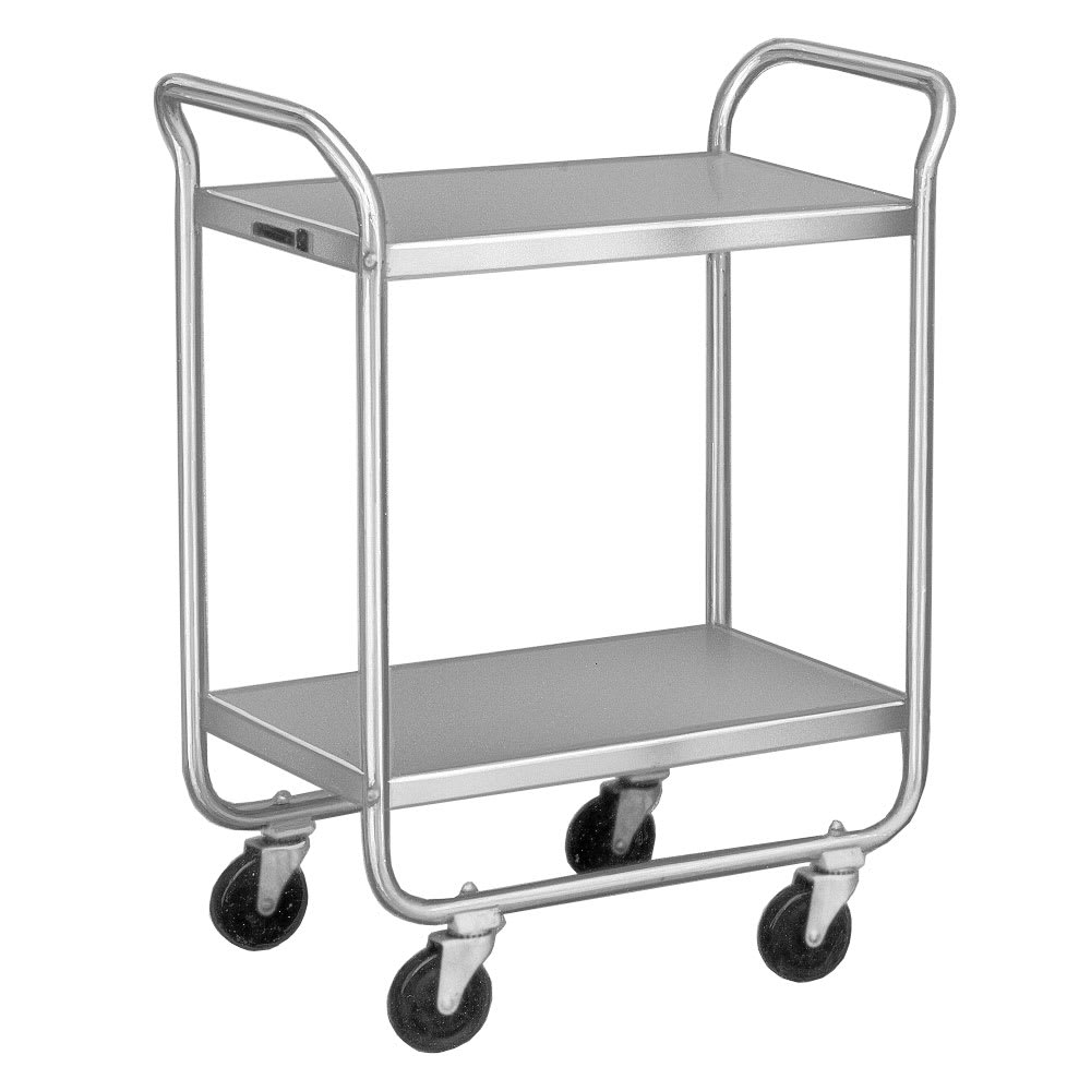 Lakeside 221 2 Level Stainless Utility Cart w/ 500 lb Capacity, Flat Ledges