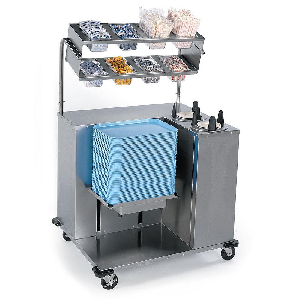 Lakeside 2620 Mobile Tray Starter w/ Tray & Plate Dispenser