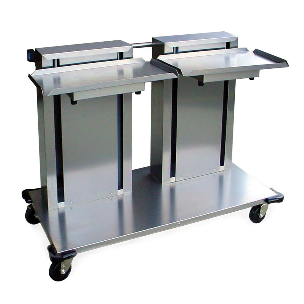 "Lakeside 2816 Mobile Double Cantilever Tray Dispenser for 10 x 20"" Trays"