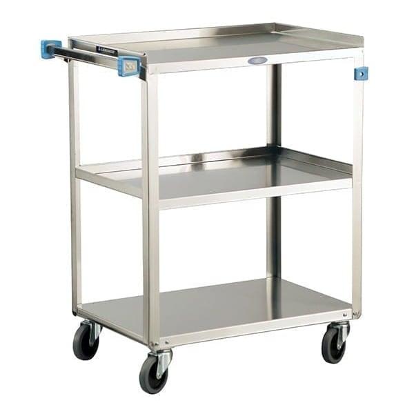 Lakeside 322 3-Level Stainless Utility Cart w/ 300-lb Capacity, Raised Ledges