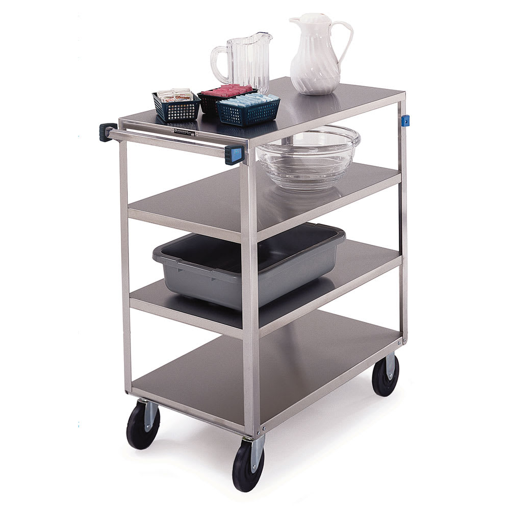 Lakeside 353 4 Level Stainless Utility Cart w/ 500 lb Capacity, Flat Ledges
