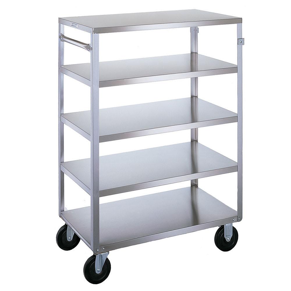 Lakeside 355 5 Level Stainless Utility Cart w/ 500 lb Capacity, Flat Ledges