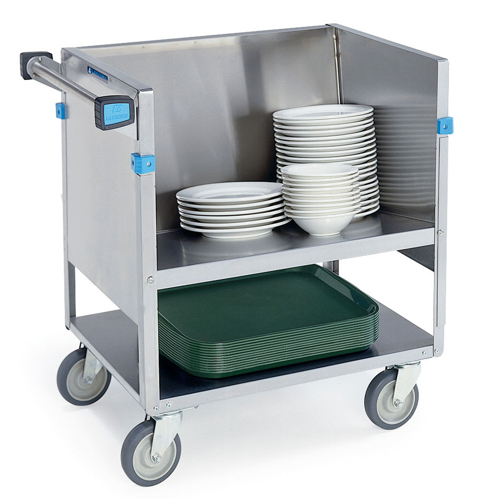 "Lakeside 405 Double Shelf Store-N-Carry Dish Truck for (100) 9"" or (66) 5-7"" Plates"
