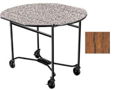"Lakeside 412 VCHER 40"" Round Drop-Leaf Room Service Table, Victorian Cherry"