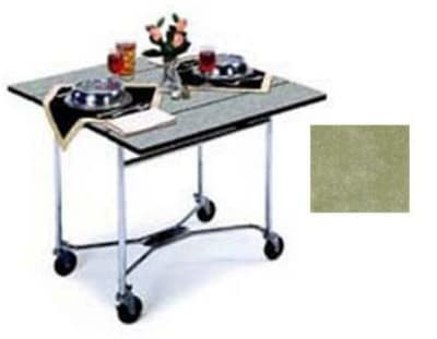 "Lakeside 413 36"" Square Table Room Service Cart, Beige"