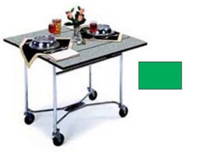 "Lakeside 413 36"" Square Table Room Service Cart, Green"