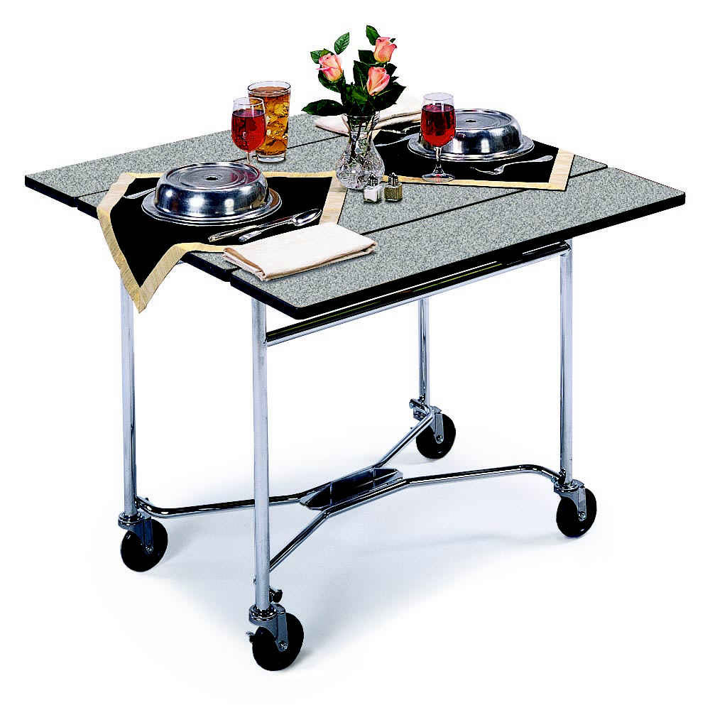 "Lakeside 413 36"" Square Table Room Service Cart, Gray"