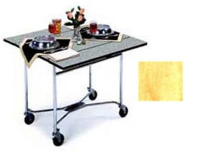 "Lakeside 413 36"" Square Table Room Service Cart, Hard Rock Maple"