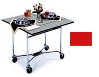 "Lakeside 413 36"" Square Table Room Service Cart, Red"