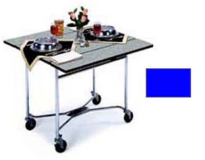 "Lakeside 413 36"" Square Table Room Service Cart, Royal Blue"