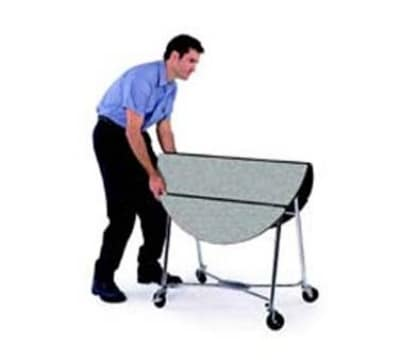 "Lakeside 415 GRN 40"" Round Table Room Service Cart, Green"