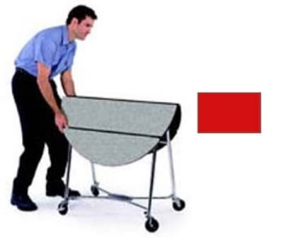 """Lakeside 415 RED 40"""" Round Table Room Service Cart, Red"""