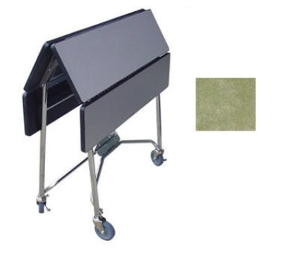 """Lakeside 416 BGSUE 36"""" Square Table Room Service Cart, Beige"""