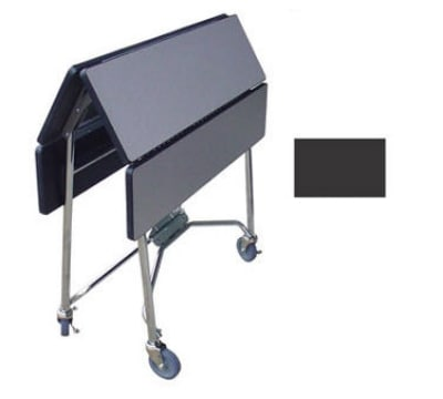"Lakeside 416 BLK 36"" Square Table Room Service Cart, Black"