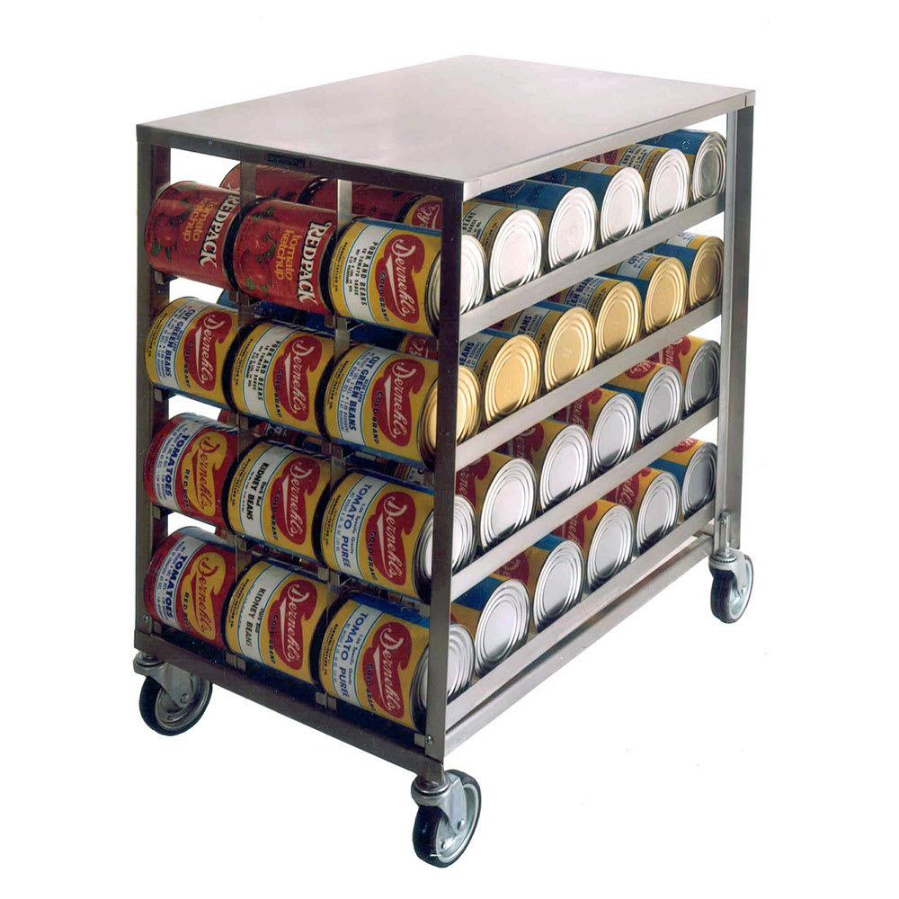 """Lakeside 458 41.25""""H Mobile Can Rack w/ (72) #10 or (96) #5 Capacity"""
