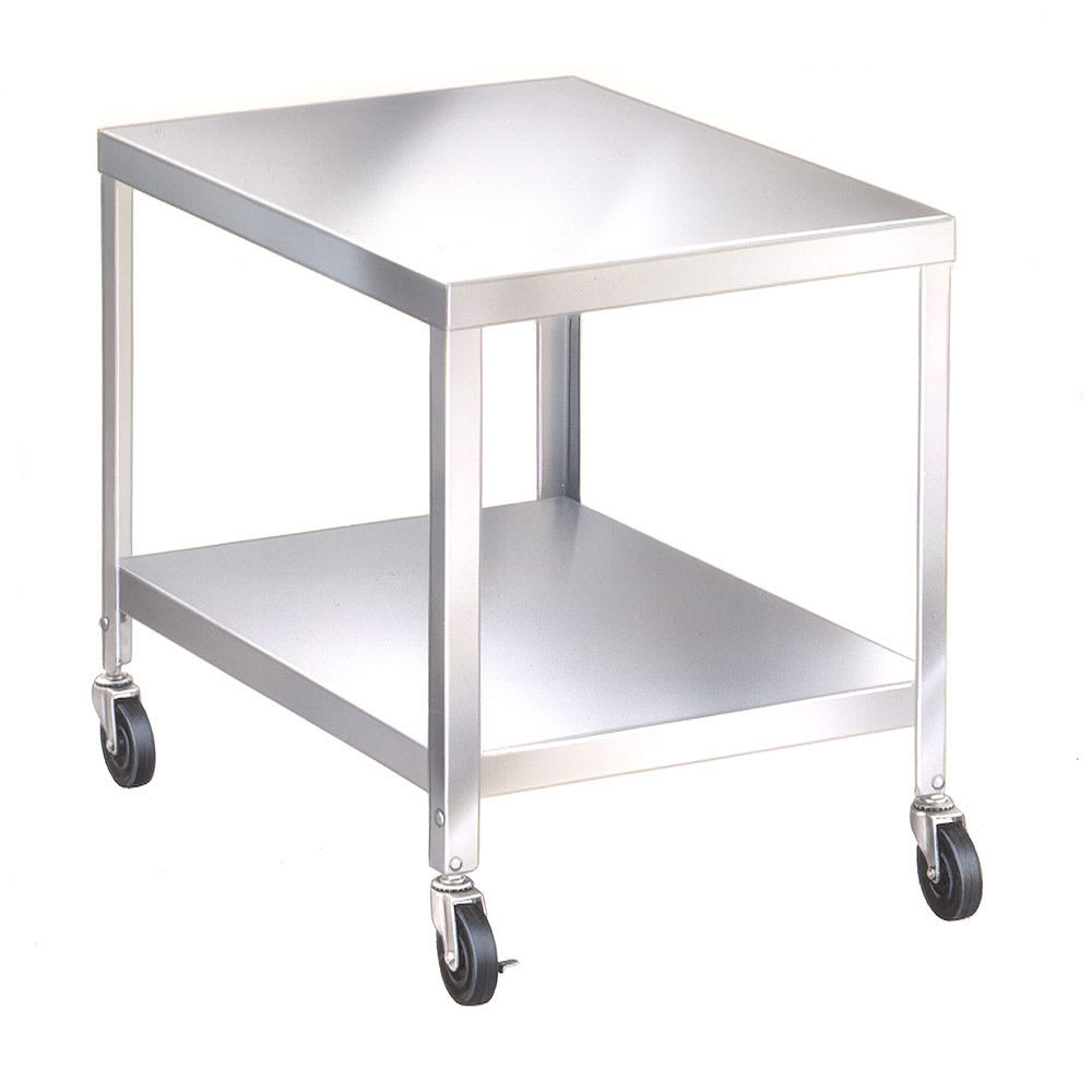 "Lakeside 516 21.25"" Mixer Table w/ All Stainless Undershelf Base, Mobile, 25.25""D"