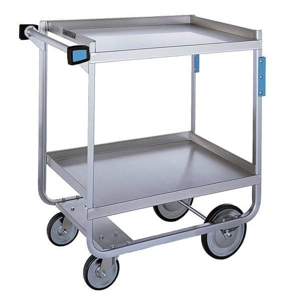 Lakeside 521 2-Level Stainless Utility Cart w/ 700-lb Capacity, Flat Ledges