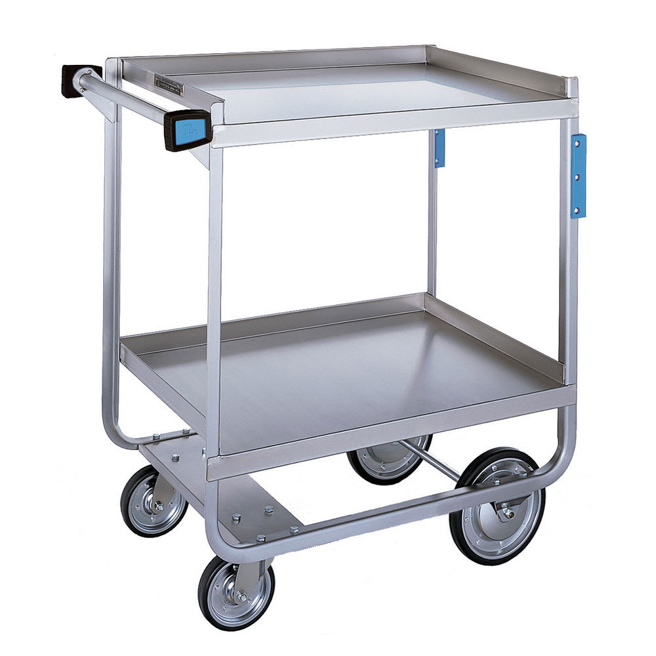 Lakeside 543 2 Level Stainless Utility Cart w/ 700 lb Capacity, Raised Ledges