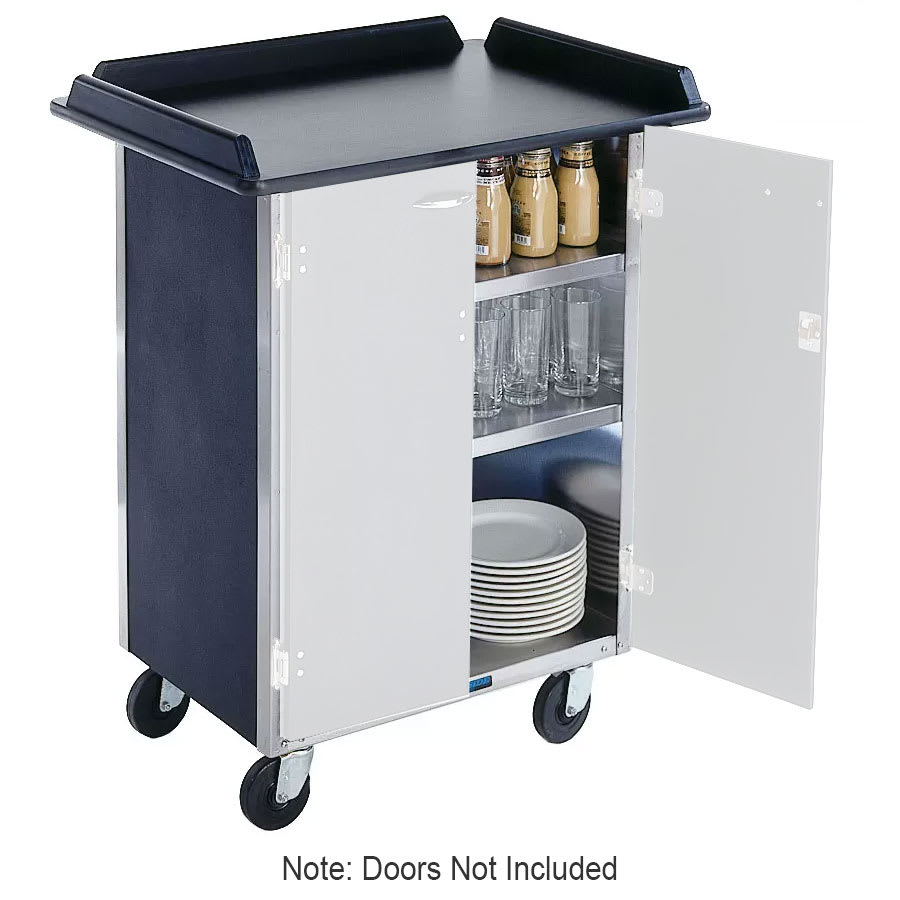 "Lakeside 636 BLK 30.25"" Stainless Beverage Service Cart, 21""D x 38.31""H, Black"