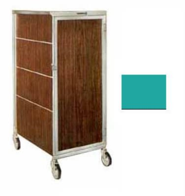 Lakeside 642 TEAL 20-Tray Ambient Meal Delivery Cart