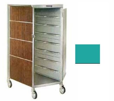 Lakeside 647 TEAL 20-Tray Ambient Meal Delivery Cart