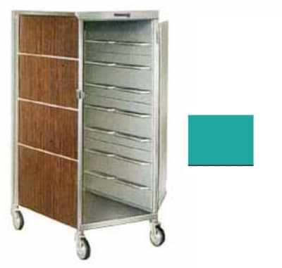 Lakeside 652 TEAL 20 Tray Ambient Meal Delivery Cart