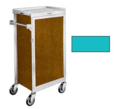 Lakeside 654 TEAL 6-Tray Ambient Meal Delivery Cart