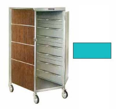 Lakeside 655 TEAL 16-Tray Ambient Meal Delivery Cart