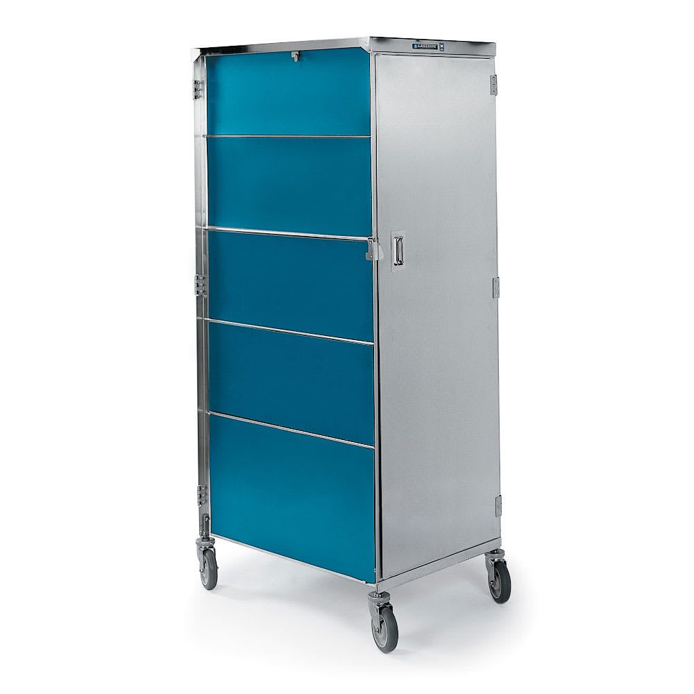 Lakeside 657 TEAL 20 Tray Ambient Meal Delivery Cart