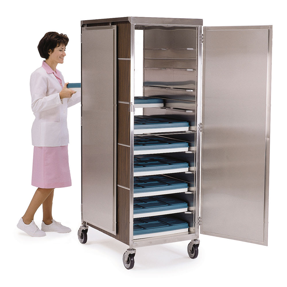 Lakeside 657 WAL 20-Tray Ambient Meal Delivery Cart