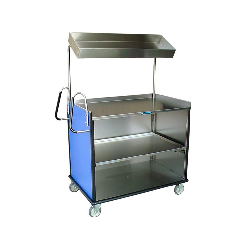"Lakeside 660 Food Cart w/ Overshelf, 49""L x 28.25""W x 72.15""H, Green"