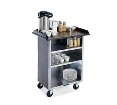 "Lakeside 681 WAL 58.38"" Stainless Beverage Service Cart, 24""D x 38.31""H, Wood"