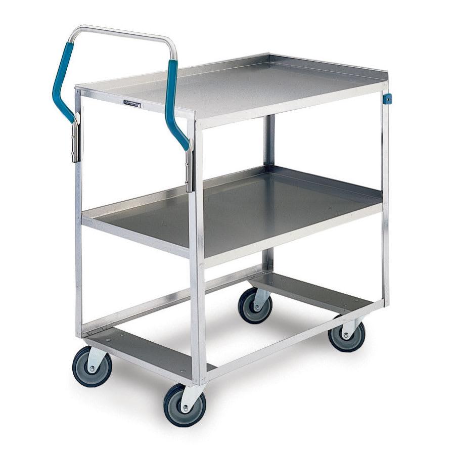 Lakeside 6820 2 Level Stainless Utility Cart w/ 500 lb Capacity, Raised Ledges