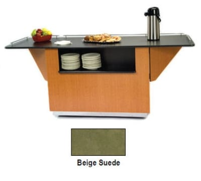 "Lakeside 6850 BEGSU 87.25"" Breakout Dining Station w/ 2 Compartment, Beige Suede"