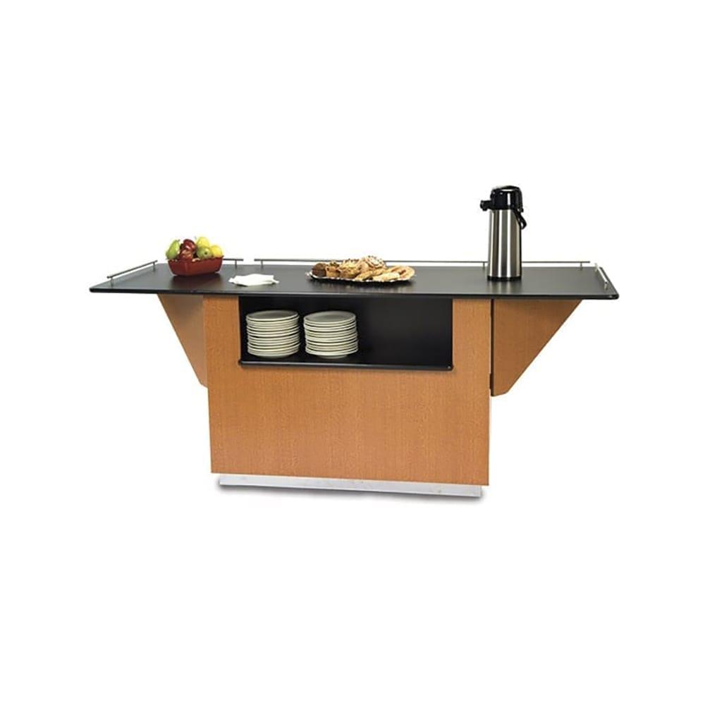 """Lakeside 6850 HRMAP 87.25"""" Breakout Dining Station w/ Drop Leaf, Hard Rock Maple"""