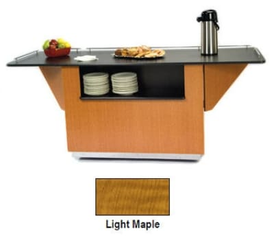 "Lakeside 6850 LMAP 87.25"" Breakout Dining Station w/ 2-Compartment, Light Maple"