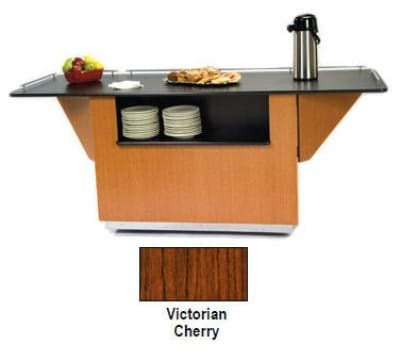 "Lakeside 6850 VCHER 87.25"" Breakout Dining Station w/ 2-Compartment, Victorian Cherry"