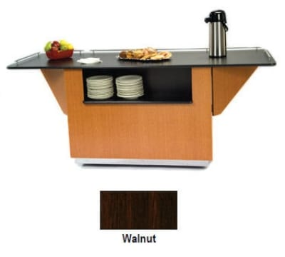 "Lakeside 6850 WAL 87.25"" Breakout Dining Station w/ 2-Compartment, Walnut"