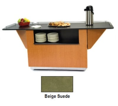 "Lakeside 6855 BEGSU 99"" Breakout Dining Station w/ 2-Compartment, Beige Suede"